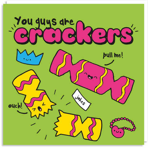 Crazy Christmas crackers card
