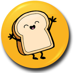 Fun food toast button badge