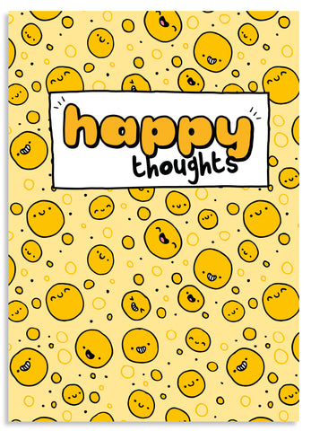 Happy thoughts A5 blank notebook
