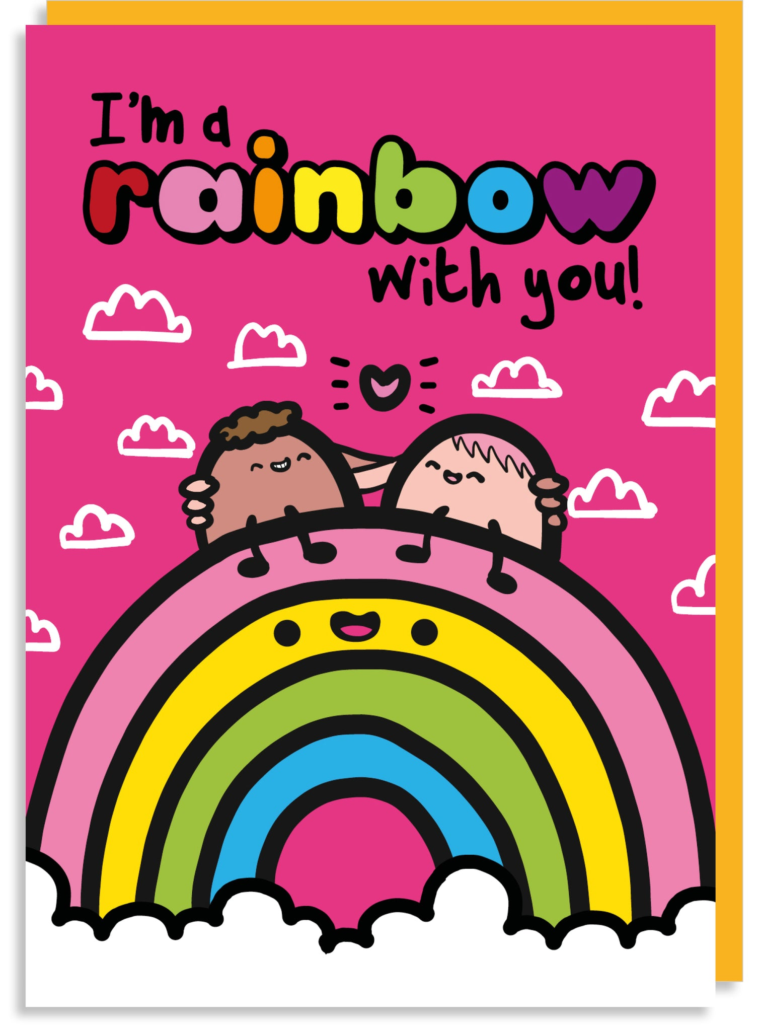I'm a rainbow with you Valentine's card