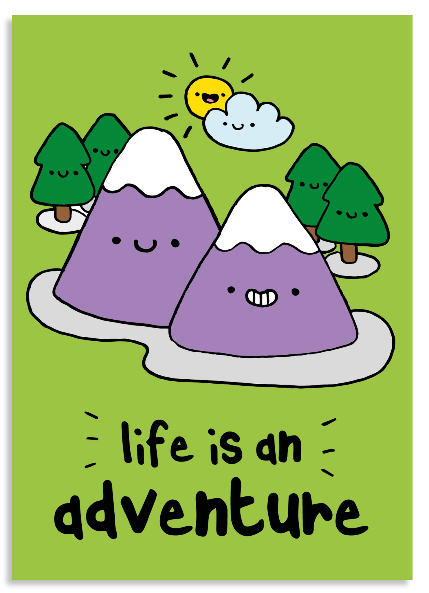Life is an adventure postcard