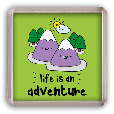 Life is an adventure fridge magnet