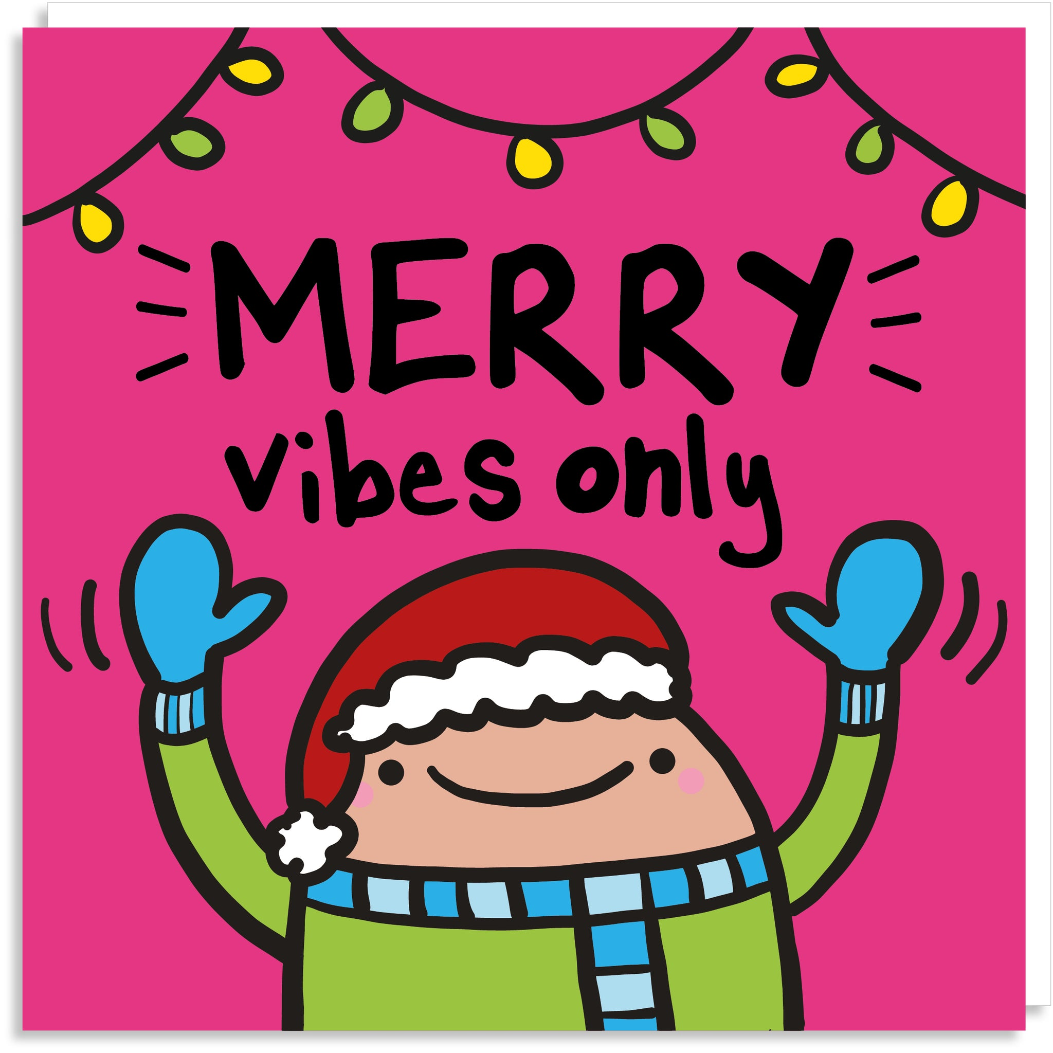 Merry vibes only Christmas card