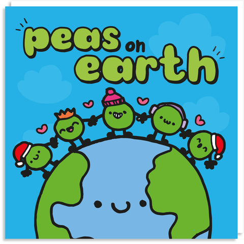 Peace/Peas on earth card