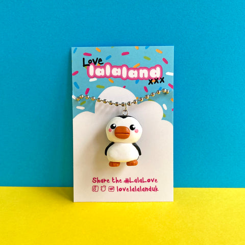 Cute Christmas Penguin Polymer Clay Charm