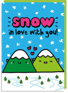 Snow in love with you Valentine's card