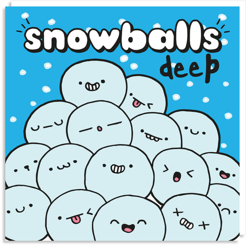 Snowballs deep Christmas card