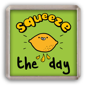 Squeeze the day fridge magnet