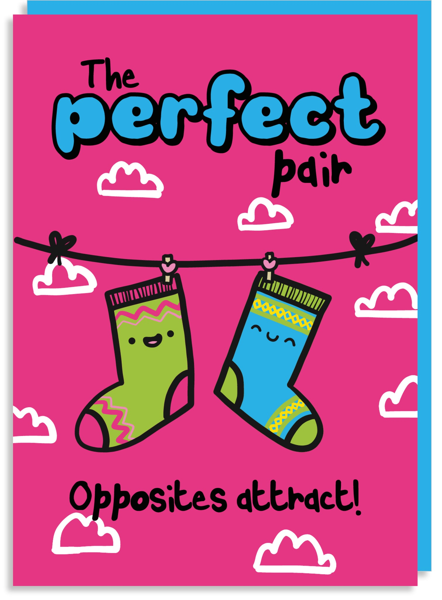 The perfect pair socks Valentine's card