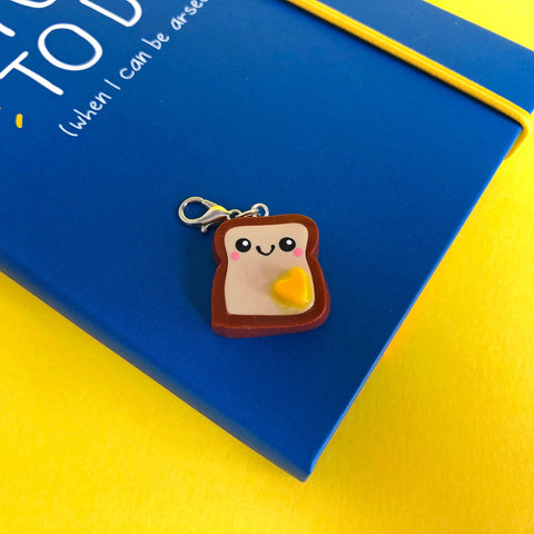 Miniature Toast Polymer Clay Charm