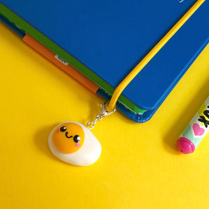 Fried Egg Polymer Clay Charm