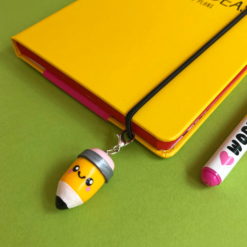 Miniature Pencil Polymer Clay Charm