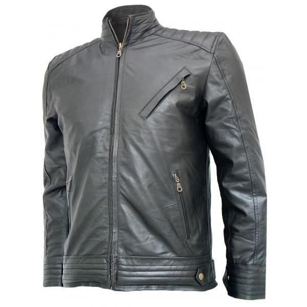 Bourne Legacy Jeremy Renner Black Leather Jacket - Xosack