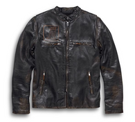 Harley Davidson Men's Speed Distressed Leather Jacket Free Shipping