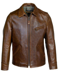 Schott NYC Horween Steerhide Sunset Back Delivery Jacket