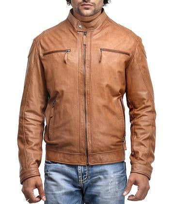 Rohnny Men Biker Leather Jackets - Xosack