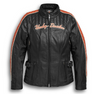 Women's Vanocker Waterproof H-D Triple Vent System Leather Jacket