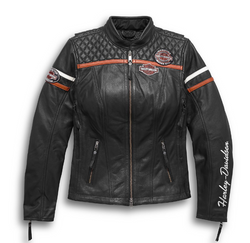 Women's Miss Enthusiast H-D® Triple Vent System™ Leather Jacket