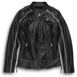 Women's Hairpin Leather Jacket