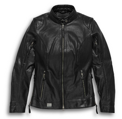 Women's Line Stitcher Leather Jacket