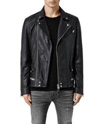 Stint Men Biker Leather Jacket - Xosack