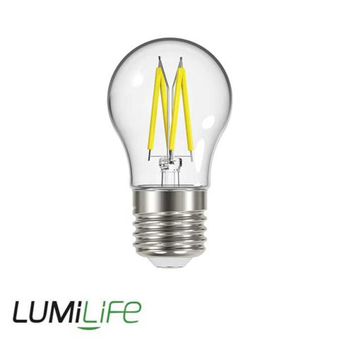 LUMiLiFE 240V 4.8W ES (E27) Clear Warm White LED Glass Golf Ball Festoon Lamp