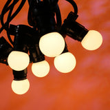 15M Festoon Package | 20 BC Opaque Warm White LED Lamps | 0.75M Spacing