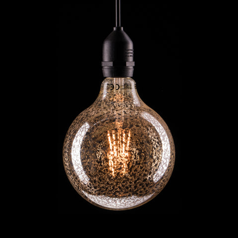 Prolite 240V 6W ES (E27) LED Crackle Glazed G125 Globe Filament Lamp