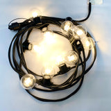 Connectable LED Festoon | 0.5M Lamp Spacing | Black RUBBER Cable