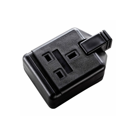 Masterplug Permaplug Heavy Duty 13A 1 Gang Trailing Socket - Black (ELS13B-01)
