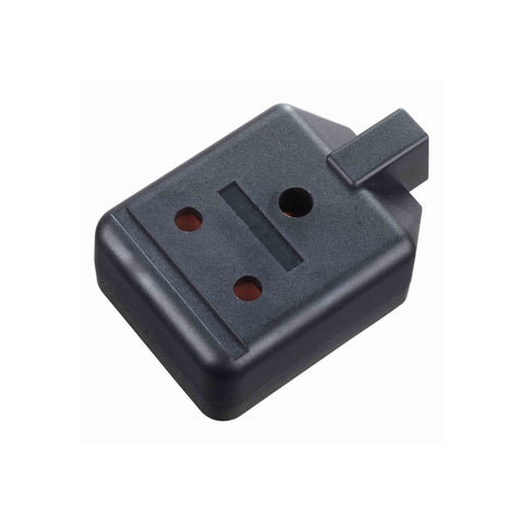 Masterplug Permaplug Heavy Duty 15A 1 Gang Trailing Socket - Black (ELS15B-01)