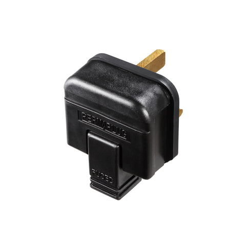 Masterplug Permaplug Heavy Duty 13A Fused Plug - Black (HDPT13B-01)