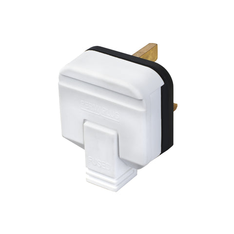 Masterplug Permaplug Heavy Duty 13A Fused Plug - White (HDPT13W-01)