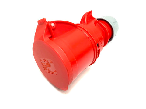 PCE 32A 400V 3P+N+E IP44 Socket - Red (225-6)