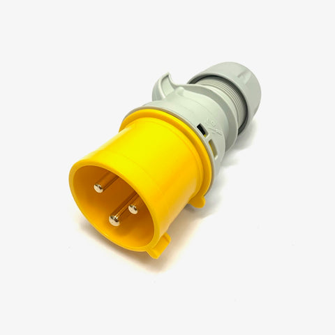 PCE 32A 110V 2P+E IP44 Plug - Yellow (023-4)