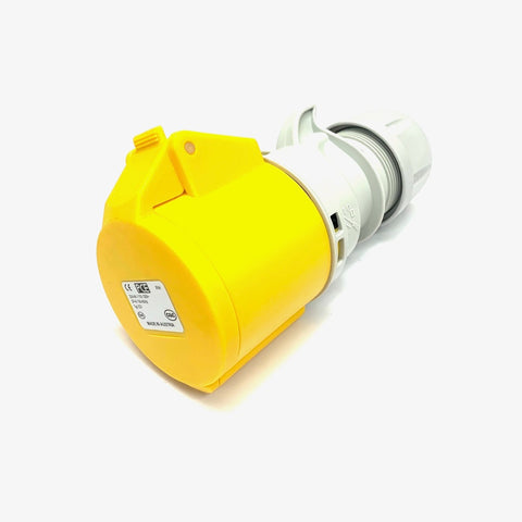 PCE 32A 110V 3 Pin 2P+E IP44 Socket - Yellow (223-4)