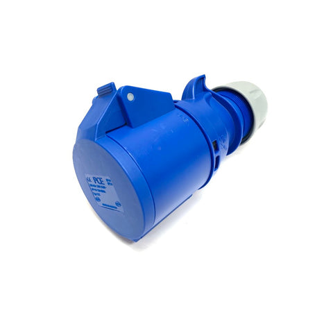 PCE 32A 230V 2P+E IP44 Socket - Blue (223-6)