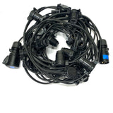 Pro 50m Festoon with 16A in and Out Black