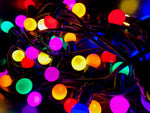 15M Festoon Package | 20 BC Coloured LED Lamps | 0.75M Spacing