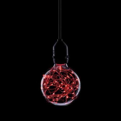 Prolite 240V 1.7W ES (E27) Red Star Effect LED G95 Globe Lamp