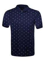 Load image into Gallery viewer, POLO TOP WITH PINEAPPLE PRINT - NAVY