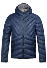 Load image into Gallery viewer, KANGOL MEN'S GALLIA HOODED PADDED PUFFER JACKET NAVY