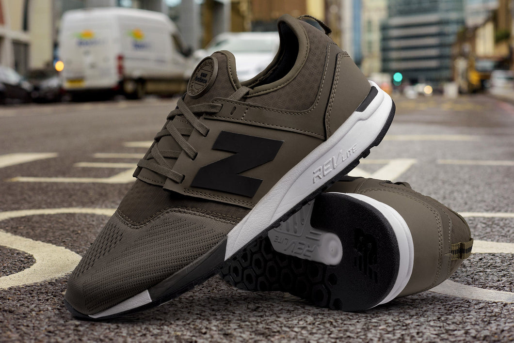 NEW BALANCE MRL247OL OLIVE WITH WHITE