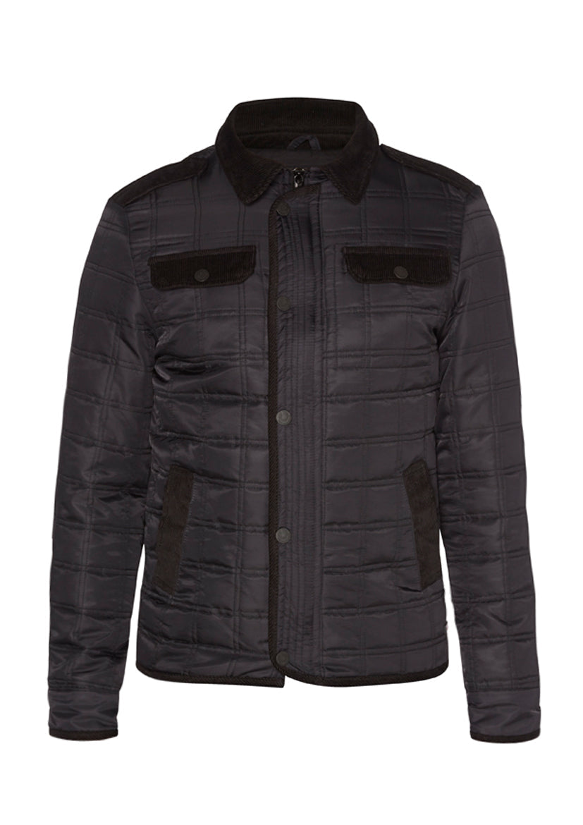 DREAMWEAVER NYLON QUILTED RIDING JACKET BLACK