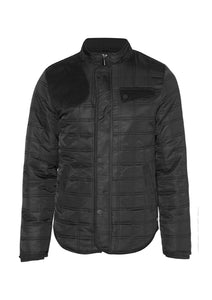nylon quilted riding jacket