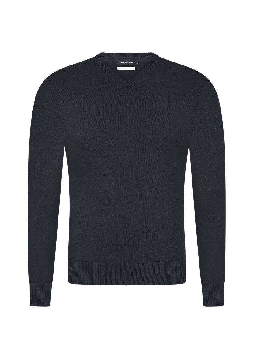 v neck super combed cotton jumper