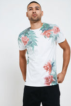 Load image into Gallery viewer, Crew Neck Flower Print T Shirt