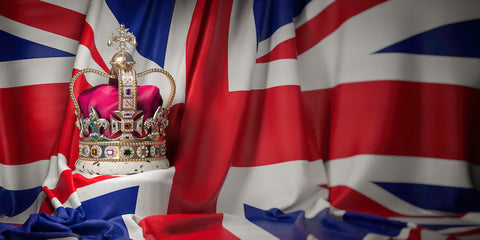 British flag with crown