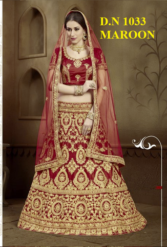 Amazing Red And Maroon Women Lehenga