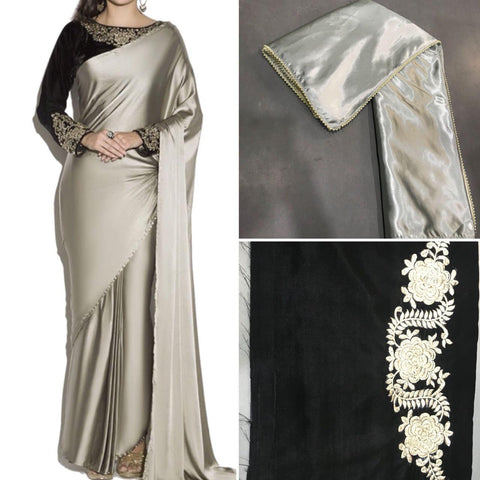shop n discount - Hot Selling Designer Satin Saree For Women